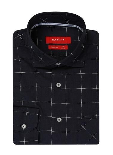Damat Comfort Kareli Gömlek Lacivert